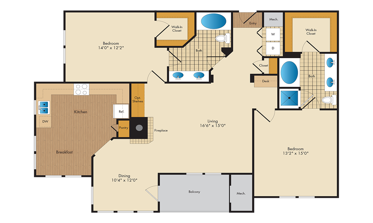 The Park At Kingsview Village - Circinius - 2 Bedroom 2 Bath